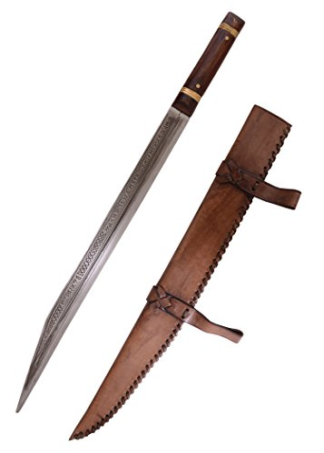 Sax von Beagnoth mit Lederscheide - Wikingerschwert - Thames scramasax - Seax