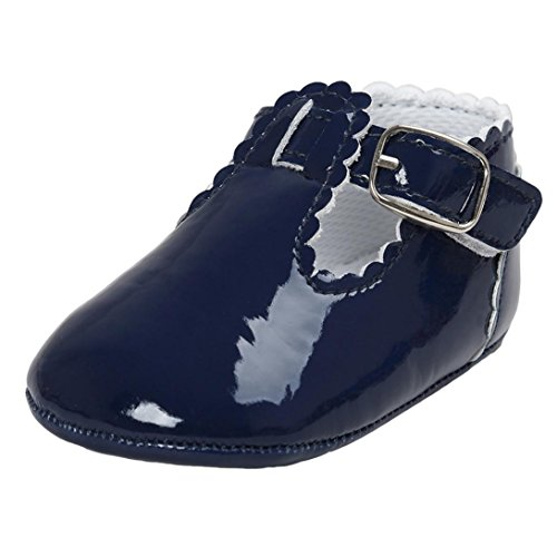 Magiyard Zapatos de suela princesa suave Zapatillas de deporte para niños Zapatillas informales (0 ~ 6 meses, Armada)