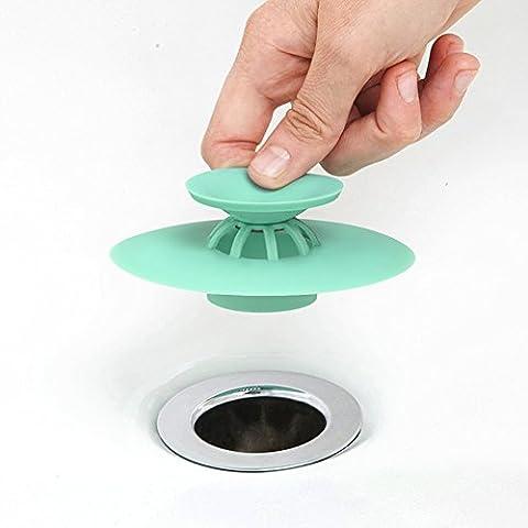 YC Hongda–multifonction en silicone Déodorant Bouchon égouttoir et égouttoir à cheveux Catcher, Vert 1, Green Pack 1