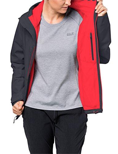 Jack Wolfskin Arroyo Hardshelljacke Damen, Wetterschutz Funktionsjacke für Damen, wasserdichte, winddichte & atmungsaktive Regenjacke, Outdoorjacke mit angenehmer Passform, schwarz - 4