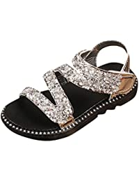 c5a6d359 HUHU833 for 3-9 Years Girls, Summer Infants Kid Girls Crystal Bling Beach  Princess