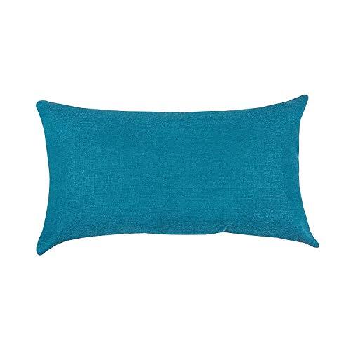 salosan® Sofakissen, Lounge Rückenkissen, Kopfkissen, Couch- oder Palettenkissen, Dekokissen Strukturpolsterstoff in 7 Unifarben für trendiges Wohndesign. Größe 40x70 cm (Türkis)