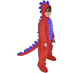 NUEVO dinosaurios Dragón Infantil Disfraz Rojo para Carnaval 86/92Halloween stegosaurier