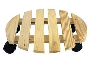 Faveco 145911 porte plante rond avec roulettes bois clair - Portes interieures pas cher ...
