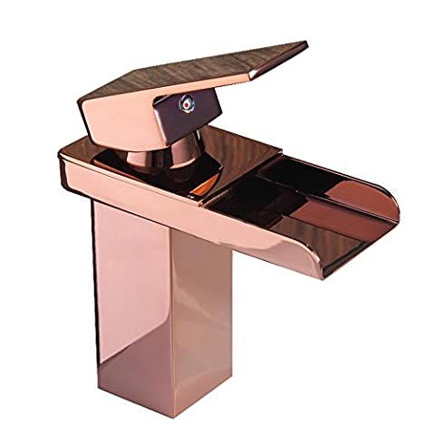 Basin Faucet Hot and Cold Mixed Water Faucet Copper Waterfall