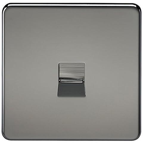Knightsbridge SF7300BN Screwless Telephone Master Socket - Black Nickel (10-Piece)