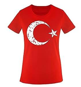 EM 2016 | TÜRKEI | WAPPEN | VINTAGE – Damen T-Shirt