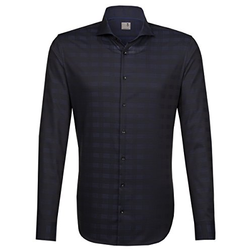 Seidensticker -  Camicia classiche  - Classico  - Maniche lunghe  - Uomo blau (0019)