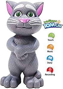 FunBlast® Talking Tom Cat, Intelligent Talking Tom Cat for Kids, Available in 2 Color (Grey)