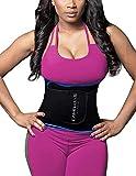 DeepTwist Waist Trainer Corset, Damen/Männer Taillengürtel Geburt Bauch Weg Body Shaper Verstellbar Taillenmieder Gürtel für Weight Loss,UK-DT8010-Blue-S