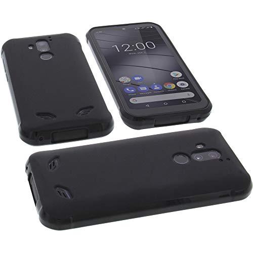 foto-kontor Étui pour Gigaset GX290 Housse pour Smartphone en Caoutchouc TPU Noir