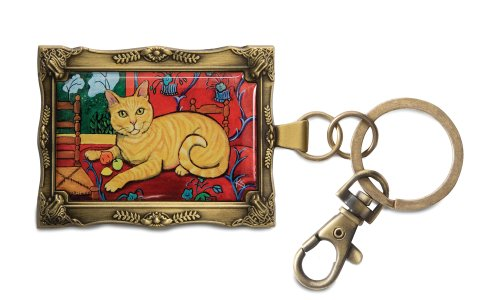 pavilion-gift-company-12027-paw-palettes-keychain-2-by-2-3-4-inch-orange-tabby-catisse