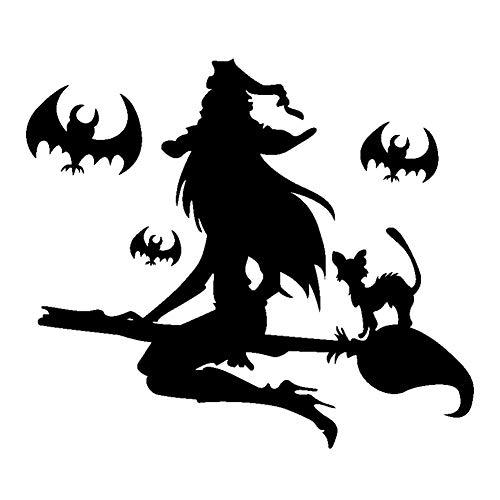 Halloween Deko Grusel Dekoration Set 60 * 40cm Halloween Hexe Wandaufkleber 1 Packung für Halloweendeko Make-up-Party Halloween Dekoration
