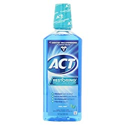 Reach Act Restoring Anti-Cavity Mouthwash With Clean Burst Icy Cool Mint - 18 Oz, 2 Pack