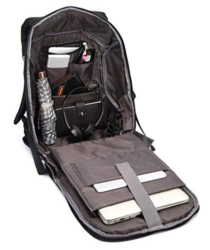 Fur Jaden 20L Black Anti Theft Bag 15.6 Inch Laptop Backpack with USB Charging Port Image 6