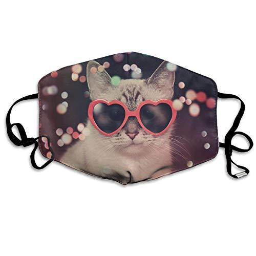 Vbnbvn Unisex Mundmaske,Wiederverwendbar Anti Staub Schutzhülle,Gesichtsmaske White Sunglasses Anti Pollution Washable Reusable Mouth Masks for Man Woman