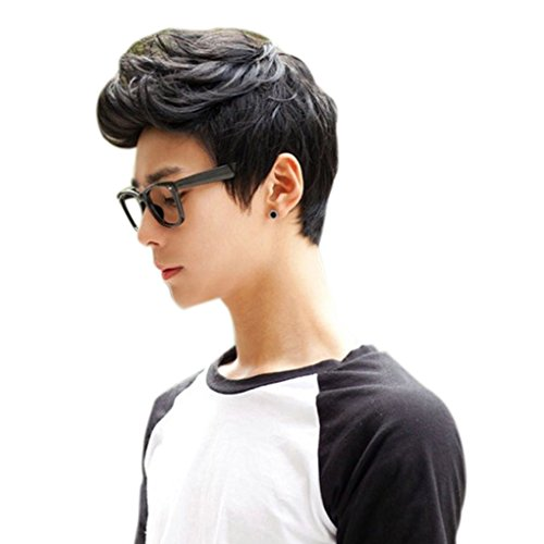 Provide The Best Männer Junge Perücken Volles Haar Kurz Schwarz Dunkelbraun Haar Männer Männliche Fälschungs-Haar Cosplay Perücken Faser