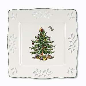 Spode Christmas Tree - Pierced Square Tray