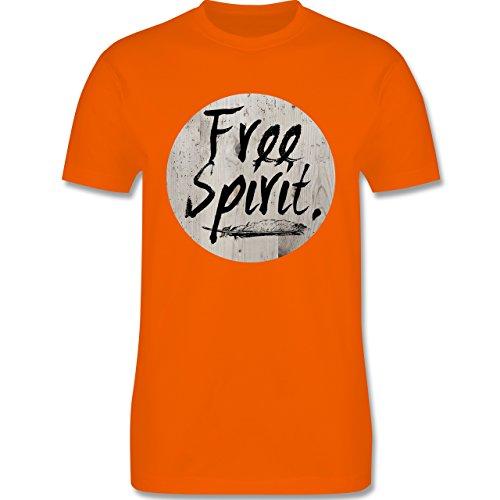 Statement Shirts - Free Spirit - Herren Premium T-Shirt Orange