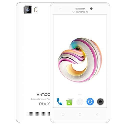 Telefonos Moviles Libres Baratos 4G 9Pcs Dual SIM 5.0' Android 7.0 Batería 2800mAh 8GB ROM Cámara 5 MP v·mobile A10 -...