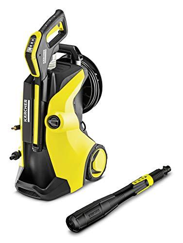 Kärcher Hochdruckreiniger K 5 Premium Full Control Plus (Druck: 20-145 bar, Fördermenge: 500 l/h, Schlauchtrommel, 3-in-1 Strahlrohr, Plus Power Pistole)