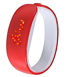 M-Mart Red Braclate Digital Led Watch For Man
