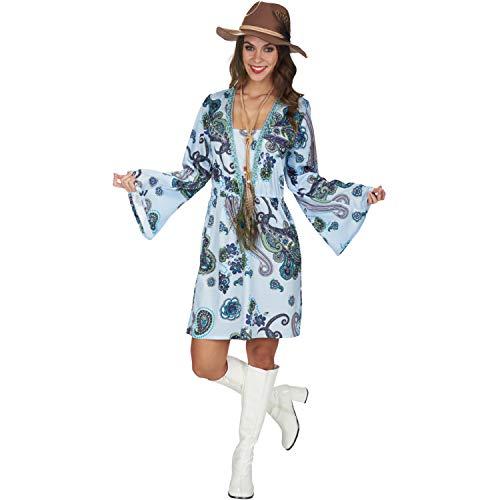 Andrea Moden GmbH Damen Kostüm Hippie Kleid Luna Gr. 40/42 Blumenkind 70er Fasching Karneval Relaxed
