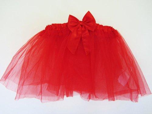 Rot Tutu Rock–Mädchen/Damen Kostüm 71,1cm-81,3cm Taille–Party Dance Disco -
