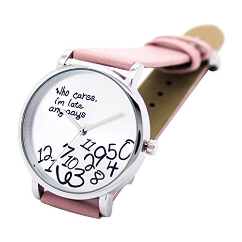 who-cares-womens-fashion-faux-leather-strap-letters-printed-quartz-wrist-watch-pink