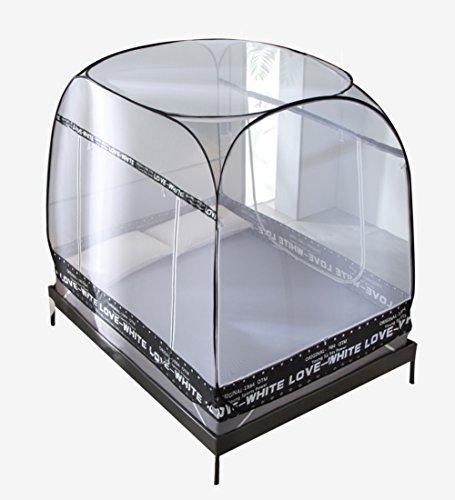 LIQICAI Moskitonetz Einfache Einstellung starker elastischer Stahldraht Insektenschutz-Bettüberdachung, Zwei Arten Zwei Größen Mehrfarbig Optional (Farbe : Schwarz, größe : 1.5 x 1.95 x - Schwarz Netting-bett