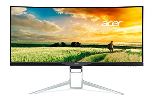 Acer XR341CK bmijpphz 34-Inch Curved 3800R Gaming Monitor (Ultra Wide QHD, IPS LED Zero Frame, 4 ms, Adaptive Sync)