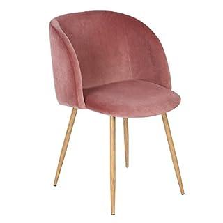 EGGREE 1er Set Vintager Retro Sessel Polstersessel Samt Lounge Sessel Clubsessel Fernsehsessel (Stieg rot)