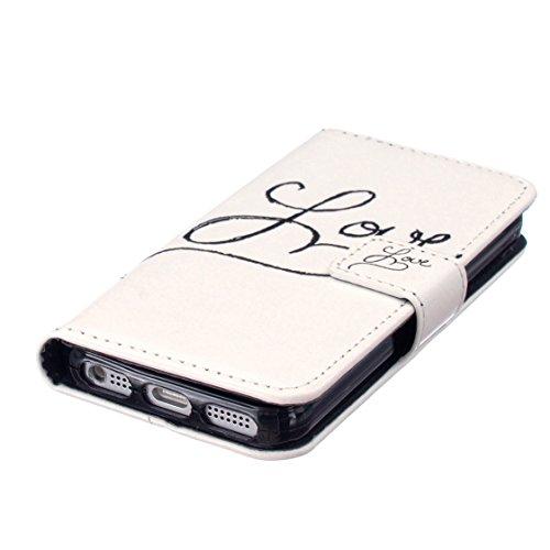 AYASHO® Coque iPhone SE 5S 5 Etui Housse - Premium Slim Bookstyle Étui Fleur Housse en Cuir Case à rabat pour Apple iPhone SE 5S 5,Y04 Y01