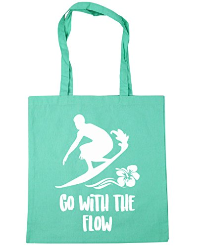 hippowarehouse-go-with-the-flow-surfer-silhouette-tote-shopping-gym-beach-bag-42cm-x38cm-10-litres