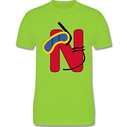 Anfangsbuchstaben - N Schifffahrt - Herren Premium T-Shirt Hellgrün