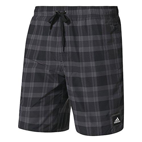 adidas Herren Checked Badeshorts, Black/Granite/Grey, S Preisvergleich
