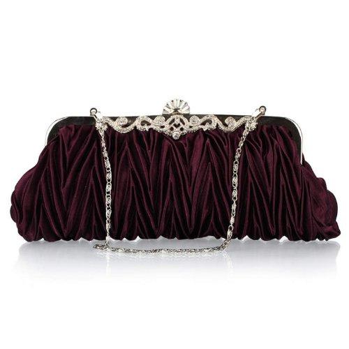 WZW Sacchetto di spalla della borsa di sera per il partito. la cerimonia nuziale e i club . champagne purple