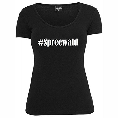 T-Shirt #Spreewald Hashtag Raute für Damen Herren und Kinder ... in den Farben Schwarz und Weiss Schwarz