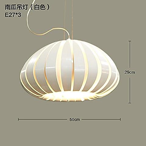 qwer Moderno e minimalista di zucca nordici banda verticale fondata elegante arti creative camera da letto acrilico lampadario, bianco