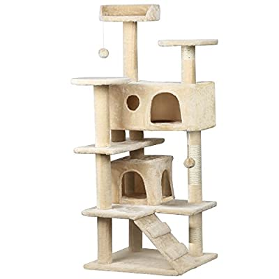 "Beyondfashion High Quality 52"" Cat Kitten House Play Climbing Tree Scratch Pet Toy"