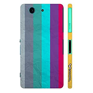 Enthopia Designer Hardshell Case Paper Stripes Back Cover for Sony Xperia Z3 Mini