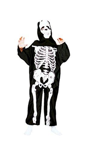 kelett Kostüm Kinder Halloween Jungen-kostüm Größe 128 (Skelett Halloween-kostüm Mit Baby)