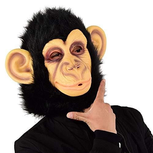 DWcamellia Masken für Erwachsene Schimpansen Maske Latex Masken Realistische Halloween Masken Neuheit Kostüm Party Maske Cosplay Overall Tier Maske