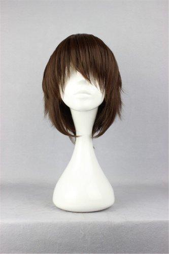 COSPLAZA Cosplay Kostueme Peruecke kurz Braun Halloween Party Haar mit Perueckennetz Final Fantasy (Kurze Braun Kostüm Perücke)
