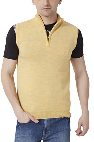 Peter England Regular Fit Sweater _ Psw51500654_s_ Yellow