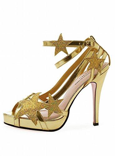 Leg Avenue - Starlight Riemchen Sandalette - gold -
