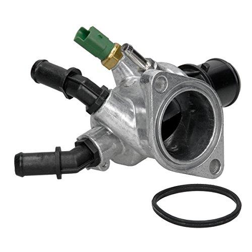 Preisvergleich Produktbild ECD Germany HV-45540 Thermostatgehäuse inkl. Thermostat Dichtung und Sensor