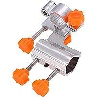 Soporte de caña de Pescar Bilateral de aleación de Aluminio de 25 mm de diámetro Silla de Pesca Cubo Estable Silla de Pesca Accesorios(Naranja)