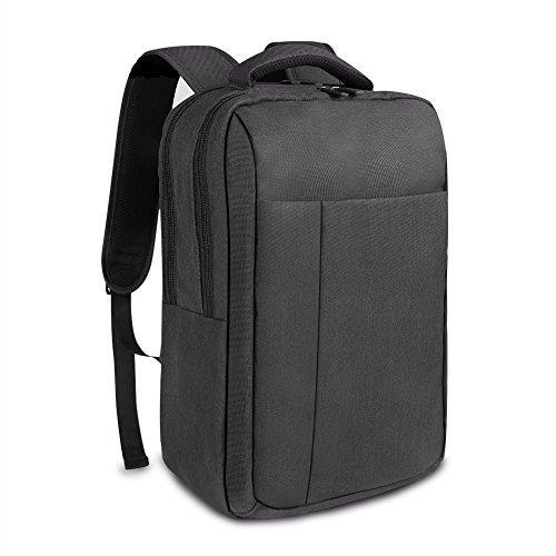 REYLEO Zaino per Computer Portatile Backpack Laptop impermeabile Zainetto uomo per ufficio e scuola ( Nero )