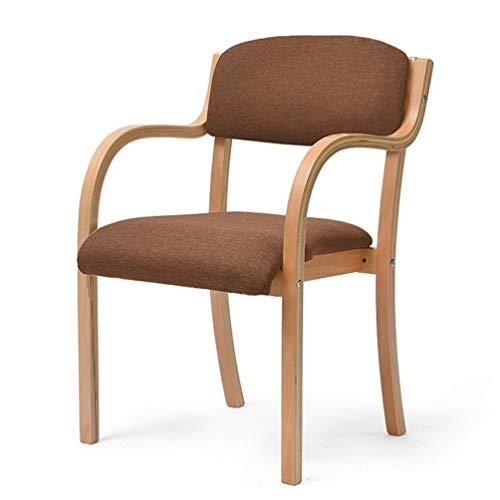Küche Holz-finish Stuhl (NEW CHAIRS Esszimmerstühle Mit Armlehnen Holz Stoff Kissen Akzent Stuhl Mitte des Jahrhunderts Moderne Beistellstühle Mit Stabilem Holzrahmen for Home Küche Wohnzimmer Finish Dining Desk Stühle)